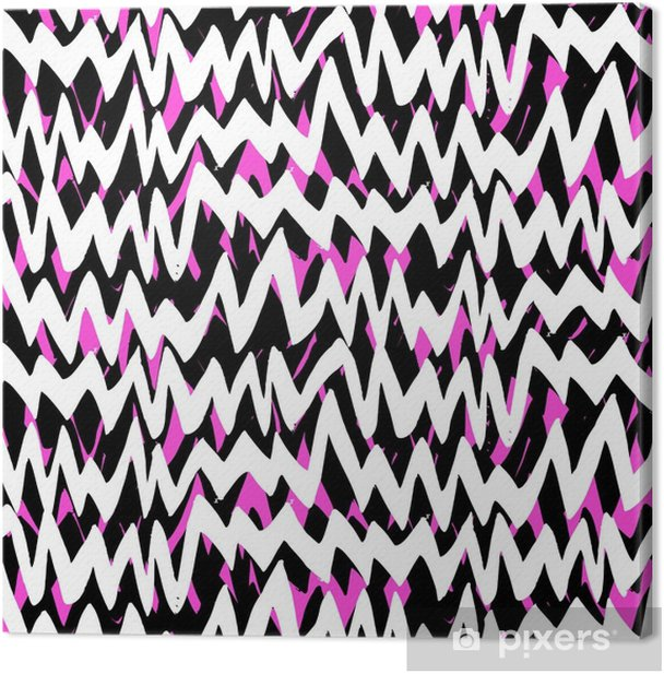 Striped hand drawn pattern with zigzag lines Canvas Print - Graphic Resources