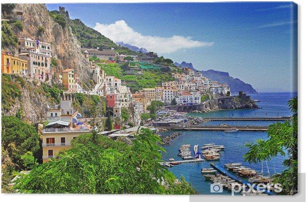 stunning Amalfi coast. Italy Canvas Print - Themes