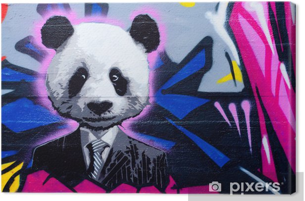 Suited panda Canvas Print - Themes
