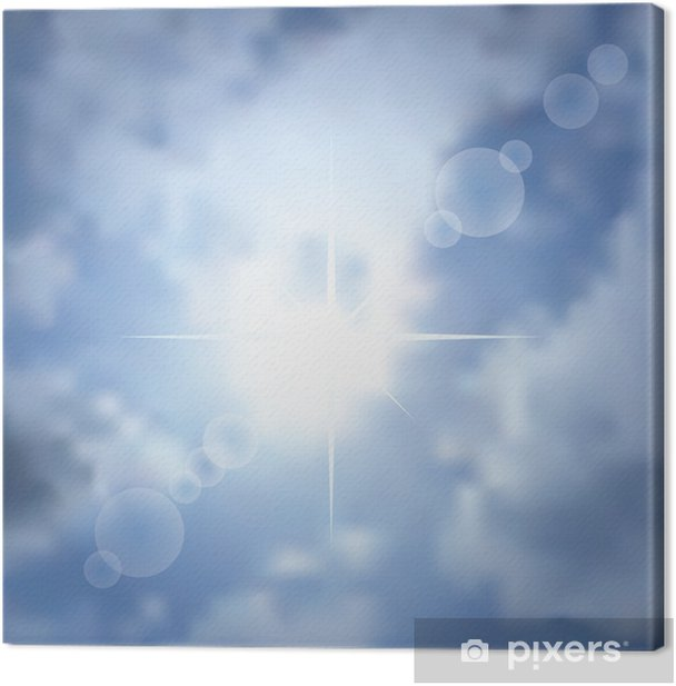 sun star background Canvas Print - Other Feelings