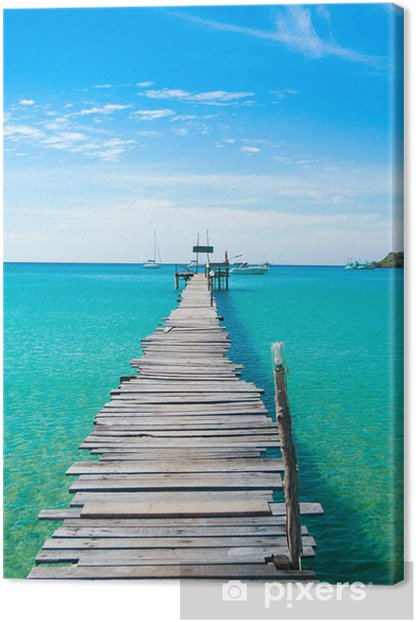 Sunny Serenity Contemplating the Sea Canvas Print - Themes