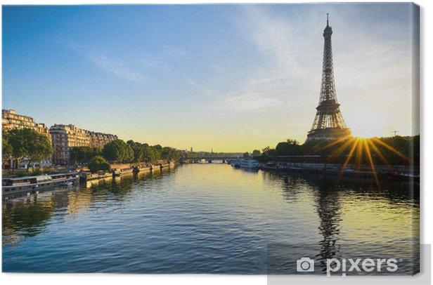 Sunrise at the Eiffel tower, Paris Canvas Print - Themes