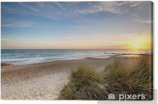 Sunrise on a deserted beach Canvas Print - Themes