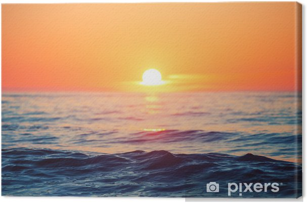 Sunrise over sea Canvas Print - iStaging