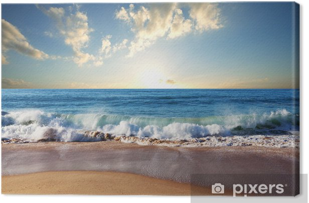 Sunset at the beach Canvas Print - Nature