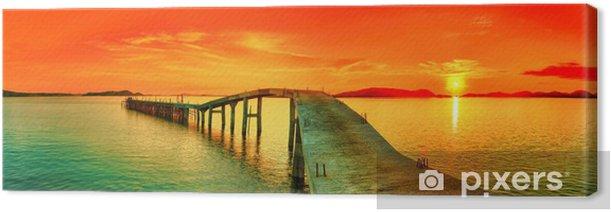 Sunset panorama Canvas Print - Themes