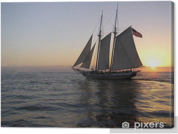 sunset sail Canvas Print - America