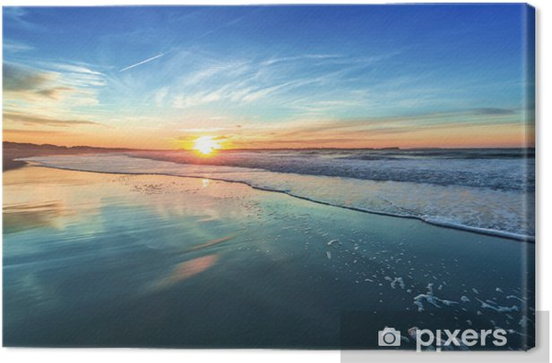 Sunset Canvas Print - Sea and ocean