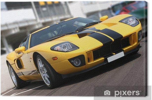 Super car at race circuit Canvas Print -