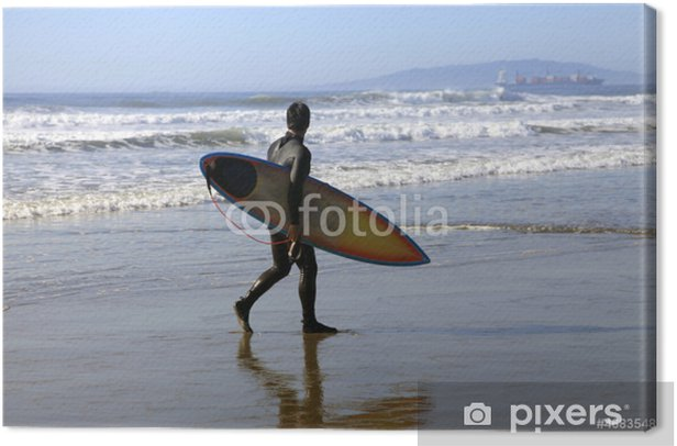 Surfer on a coastline Canvas Print - Individual Sports