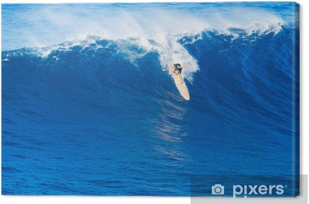 Surfer Riding Giant Wave Canvas Print