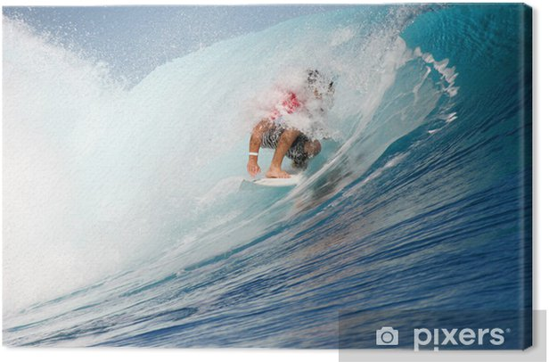 surfeur teahupoo Canvas Print - Water Sports