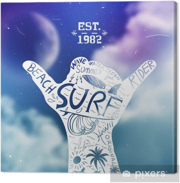 Surfing Design Canvas Print - Backgrounds