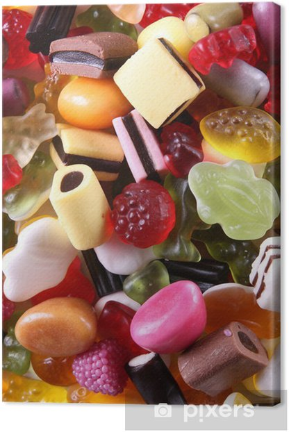Sweets mixture Canvas Print - Themes