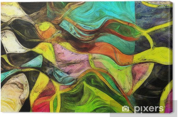 Swirling Shapes, Color and Lines Canvas Print - Graphic Resources