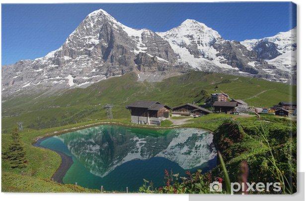 Swiss Alps Landscape Canvas Print - Themes