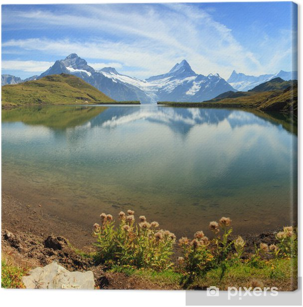 Swiss mountain Alps lake - Grindelwald Canvas Print - Themes