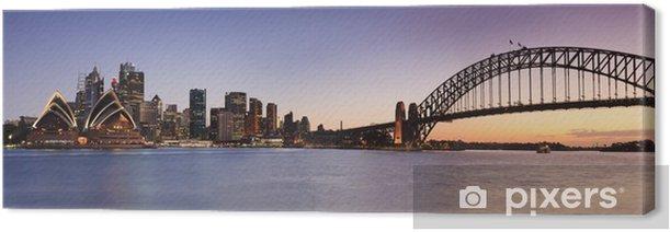 Sydney CBD from Kirribilli Set Panor Canvas Print - Themes