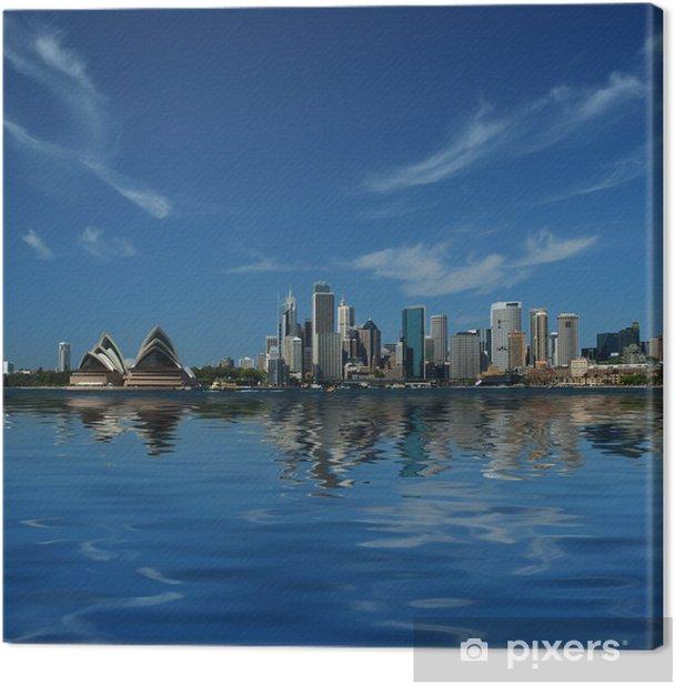 sydney city reflections Canvas Print - Themes