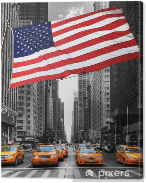 Symboles de New York. Canvas Print - Themes