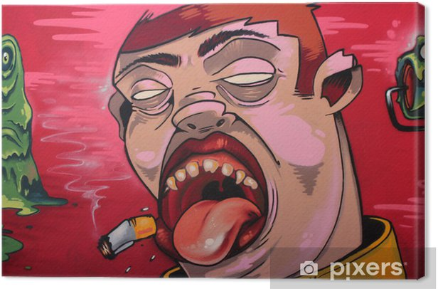 tabaco graffiti Canvas Print - Themes
