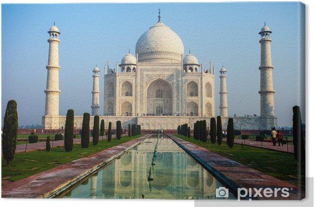Taj mahal.famous historical monument in India,Agra,Uttar Pradesh Canvas Print - Themes