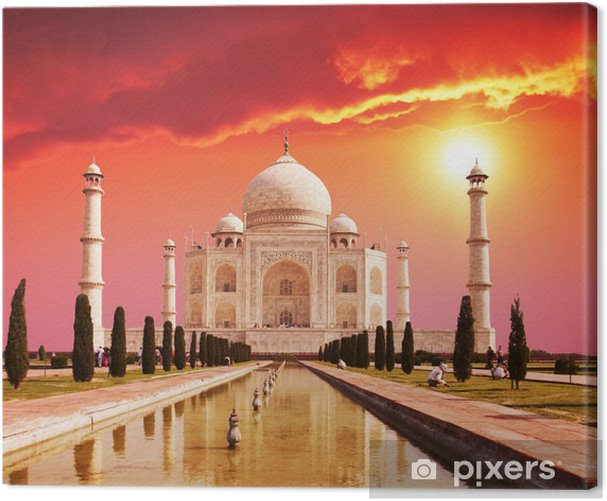 Taj Mahal palace in India Canvas Print -