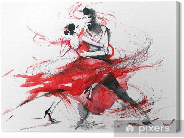 tango Canvas Print - Couples