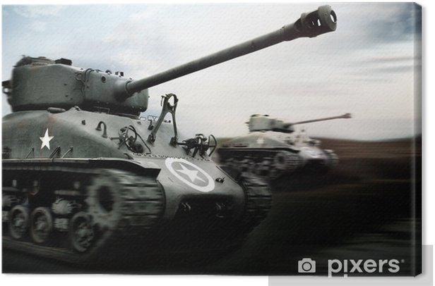 Tank Battle Canvas Print - Themes