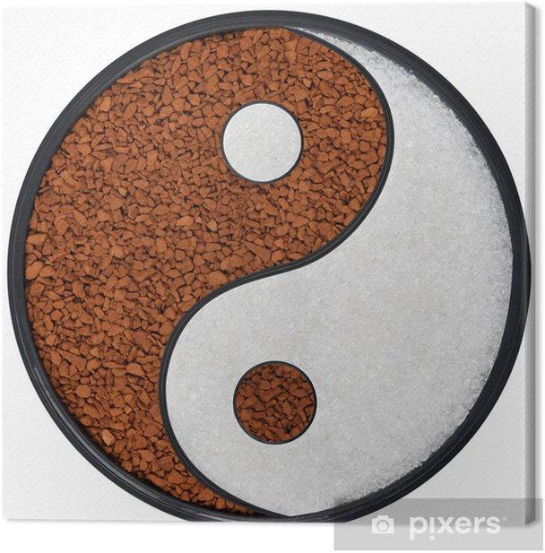 Tao Symbol Canvas Print - Hot Drinks