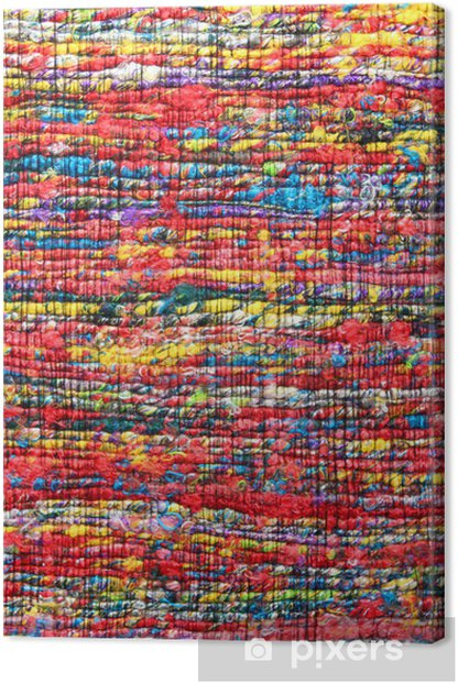 Tapis Indien Fibres Recycles Canvas Print Pixers We Live To