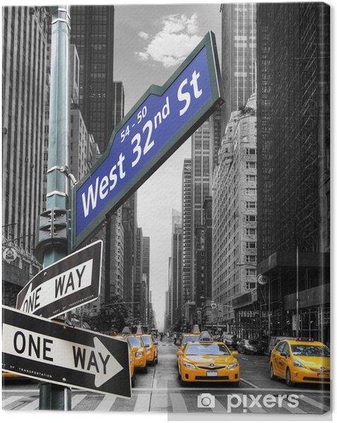 Taxis à New York. Canvas Print -