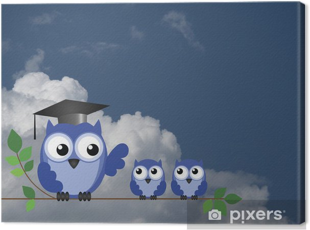 Teacher owl and pupils Canvas Print - Themes