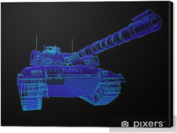 Technical illustration of the Challenger Main Battle Tank. Canvas Print - Tanks