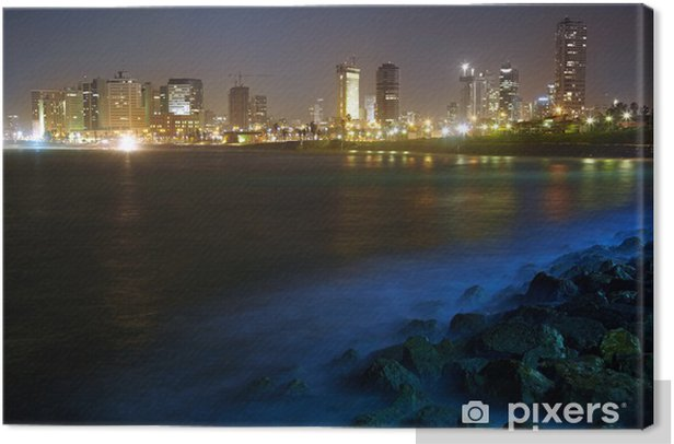 Tel Aviv. Night view from Jaffa Canvas Print - The Middle East