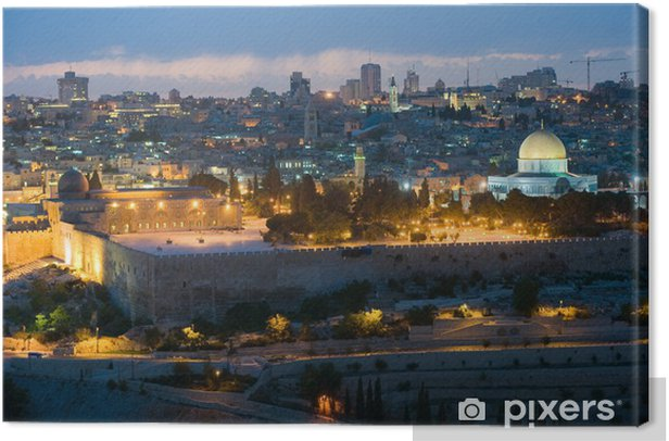 Temple mount in Jerusalem Canvas Print - The Middle East