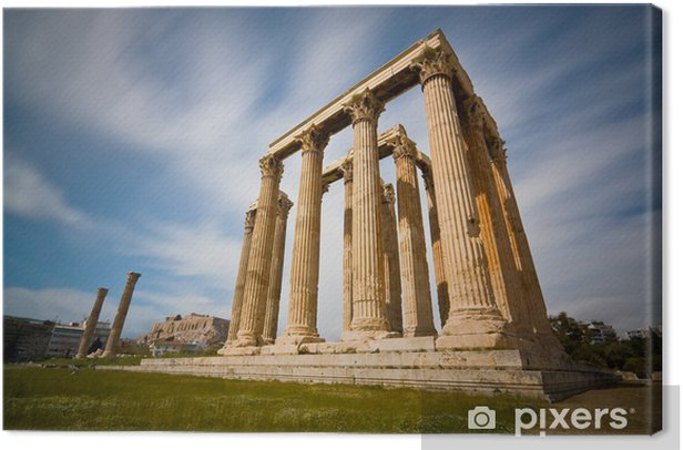Temple of Zeus in Athens. Canvas Print - Themes