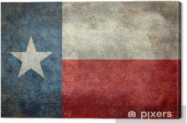 Texas state flag vintage retro style Canvas Print - Graphic Resources