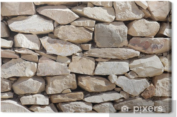 Texture of laying rocks. Canvas Print - Textures