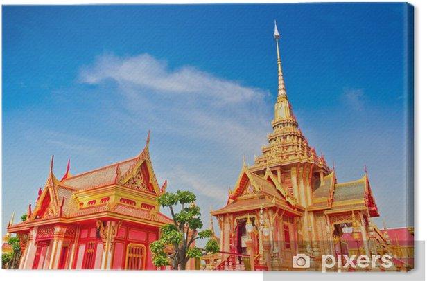 Thai royal funeral in Bangkok of Thailand Canvas Print - Religion