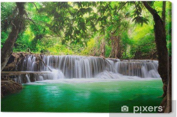 Thailand waterfall in Kanjanaburi Canvas Print - Themes