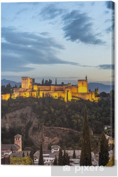 The Alhambra in Granada, Andalusia, Spain. Canvas Print - Themes
