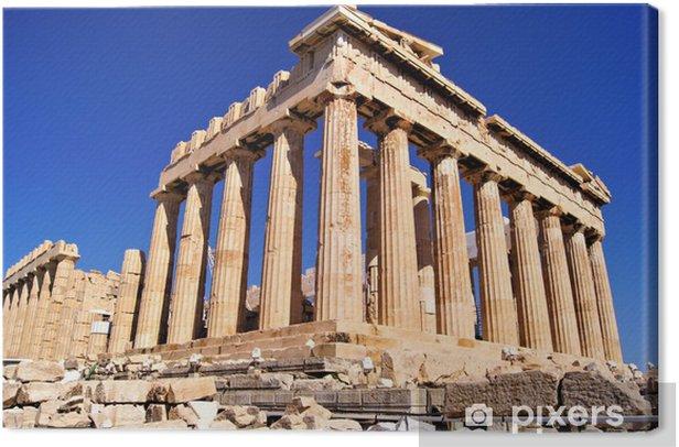 The ancient Parthenon, the Acropolis, Athens, Greece Canvas Print - Themes