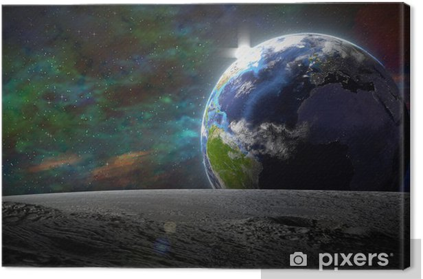 The blue Planet Canvas Print - Earth