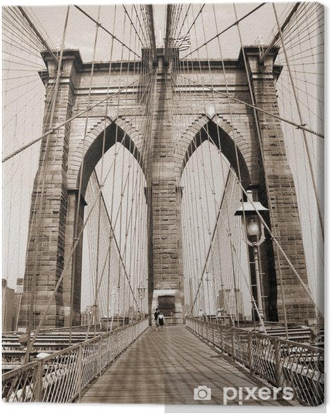 the brooklyn bridge Canvas Print - Styles