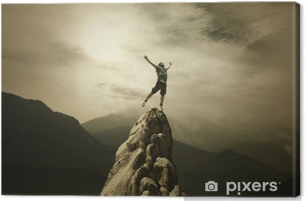 The Champion Canvas Print - Outdoor Sports