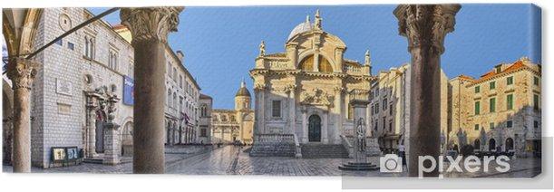 The Church of St. Blaise in Dubrovnik, Croatia Canvas Print - Europe
