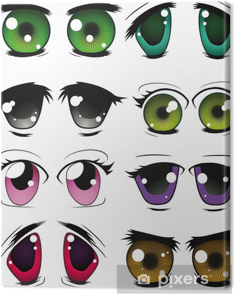 The complete set of the drawn eyes Canvas Print - Body Parts