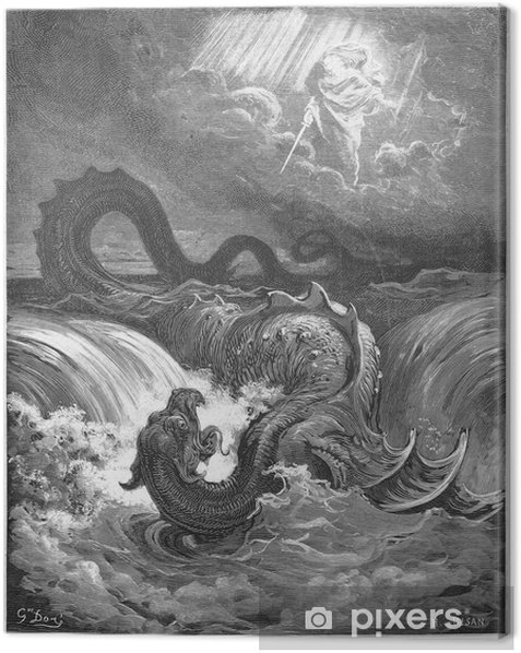 The Destruction of Leviathan Canvas Print - Signs and Symbols