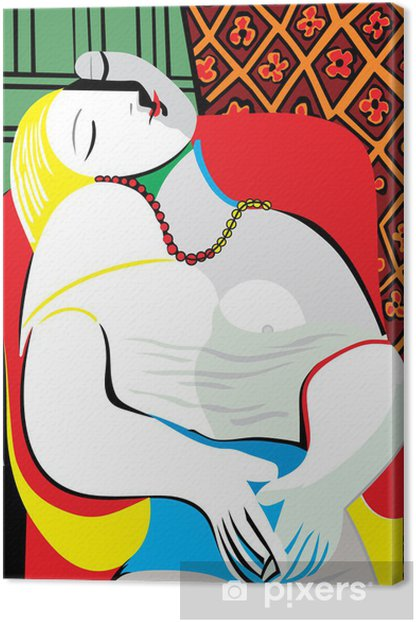 The Dream Pablo Picasso Canvas Print - Office
